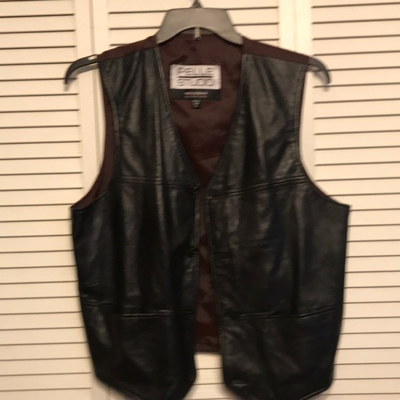 pellr studio wilson Other - Pellet Studio Wilson Black Leather Vest size XL